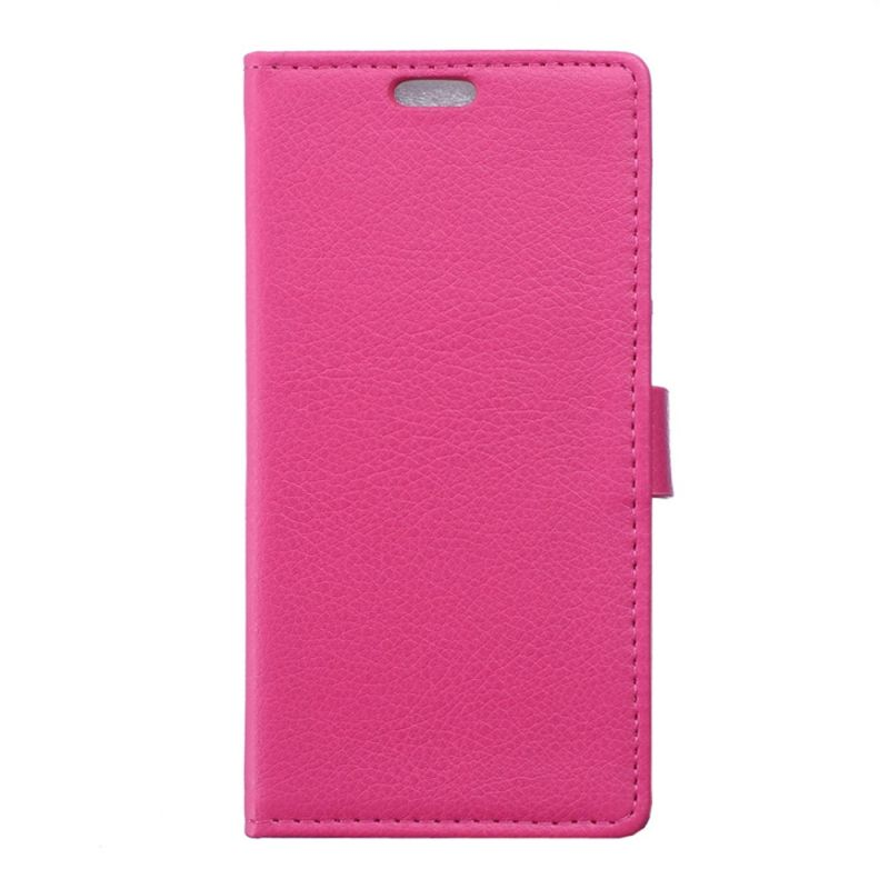 Housse wiko sunny portefeuille rose aspect grain for Housse wiko sunny 2